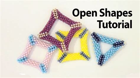 basic peyote tutorial peyote open shapes how to make a