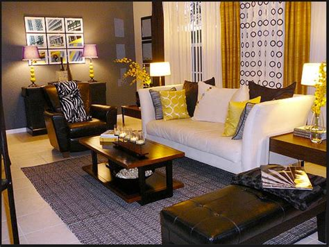 black and brown living room decor yellow gray brown living room family room furniture accent colors and brown