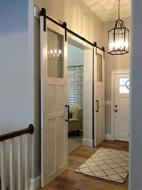 Barn Door Closet Best Ideas About Glass Barn Door Sliding Barn Door Hardware And Glass Doors On Pinterest