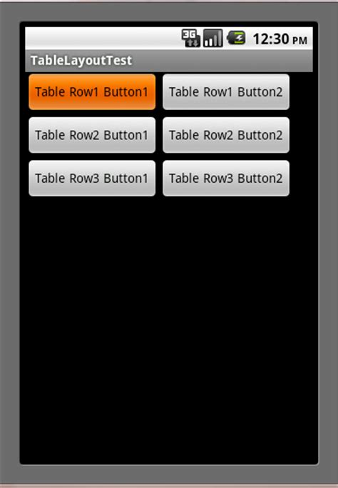 android tablelayout android sles tablelayout sle