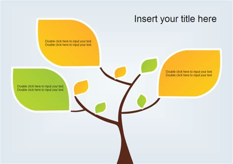 tree template for powerpoint free tree diagram exles