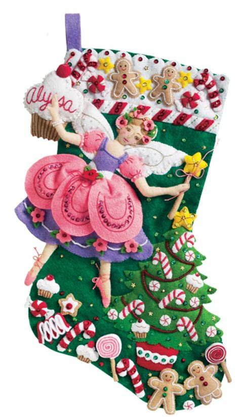 felt applique kits sugar plum bucilla kit