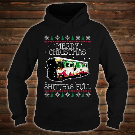 official cousin eddie merry christmas shitters full ugly christmas shirt hoodie tank top