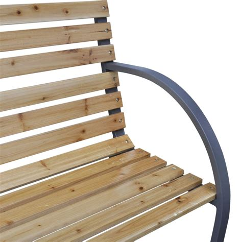 outdoor bench frames vidaxl iron frame garden bench with wood slats vidaxl com