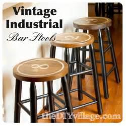 Bar Stool Diy Vintage Industrial Diy Bar Stools The Diy
