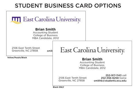 Student Business Cards Templates student business card template student business card