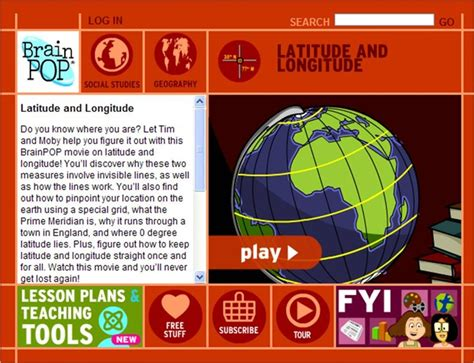 5 themes of geography brainpop brainpop latitude and longitude psia maps charts
