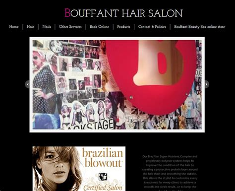 Bouffant Beauty Salon Videos | 100 beauty hair salon website designs