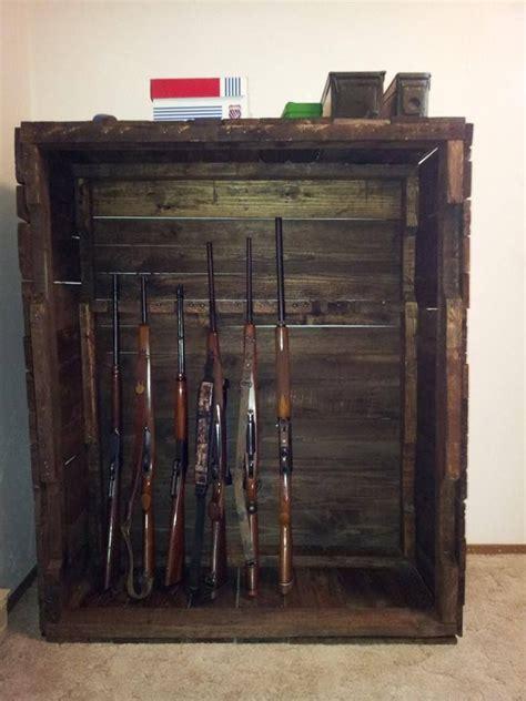 pallet wood gun cabinet plans gun cabinet wood pallet furniture