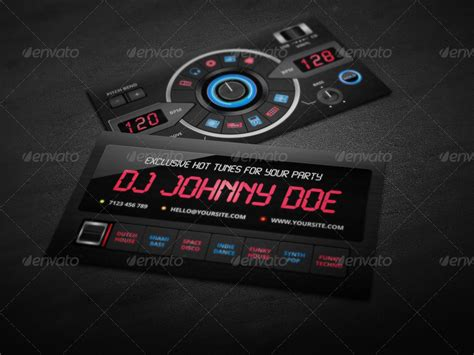 dj card template dj business card template by vinyljunkie graphicriver