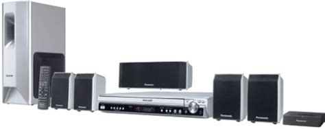 Home Theater Power Up panasonic sc pt650 refurbished home theater system with 5 dvd changer silver 1000w total power