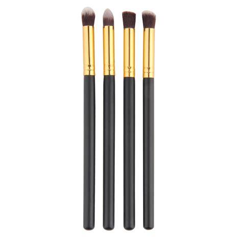 Mascara Eyeliner Lowen 2in1 Black 4pcs set professional eye brushes set eyeshadow foundation mascara blending pencil brush makeup