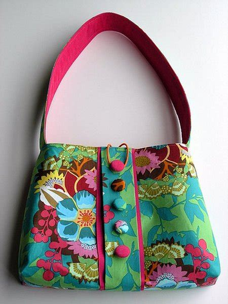 Handmade Sacks - handmade handbags play with shapes goldenfingers