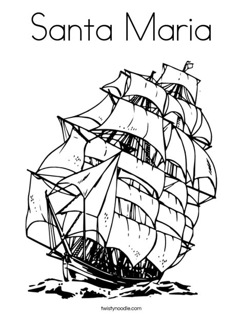 nina pinta santa maria coloring pages coloring home