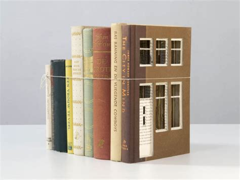 House Of Books by House Sculptures Made Of Cut Hollowed Books