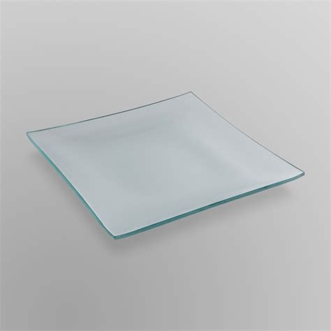 Large Candle Plate by Essential Home Large Glass Pillar Candle Plate