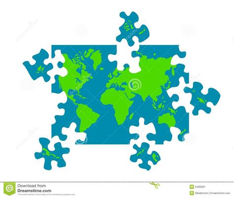 printable map puzzle of world map of world puzzle pieces stock image image 5460061