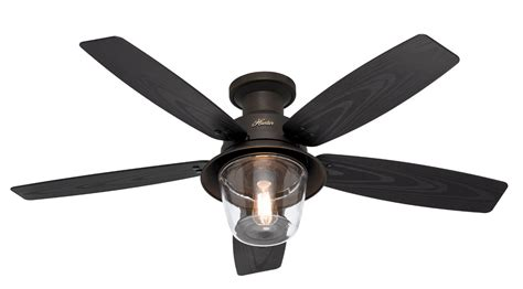 hunter hugger ceiling fans with lights hunter 52 quot rustic new bronze hugger 3 speed d rated