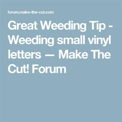 Weeding Vinyl Letters