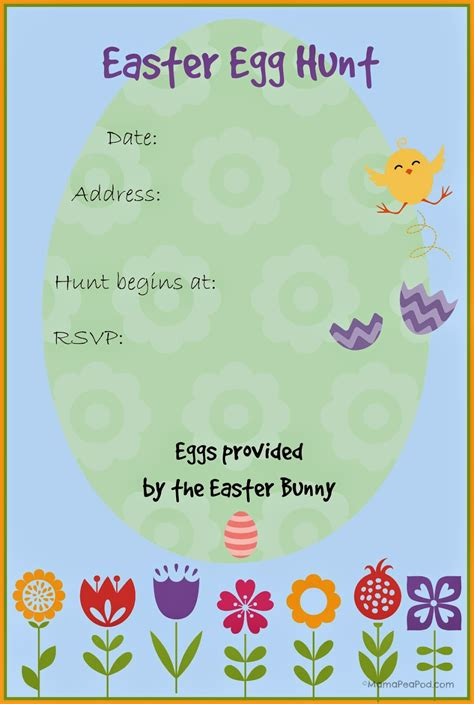 easter template easter egg hunt invitations free printable www pixshark