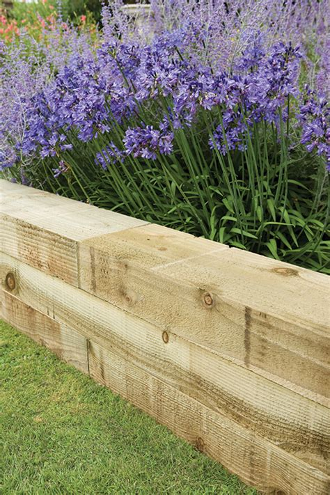 Landscape Timbers For Edging Impressive Landscape Timber Edging 3 Landscape Timbers As