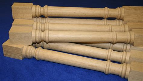 oak wood table legs turned table legs acorn woodturning