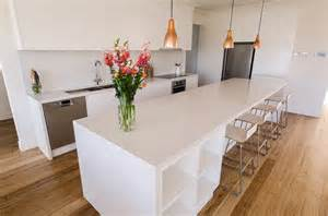Garden Benches Melbourne Parkdale Caesarstone Frosty Carrina Kitchen Modern