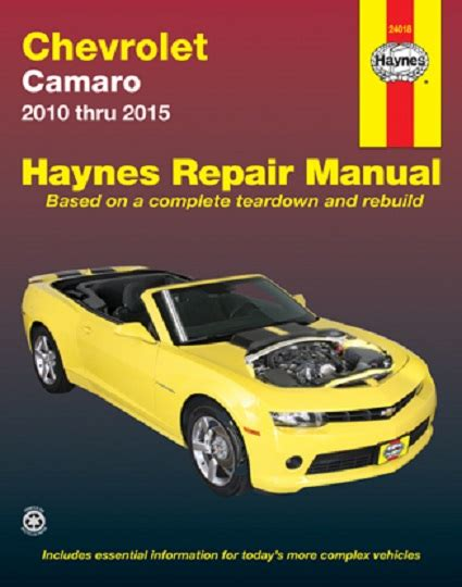 2010 2015 chevrolet camaro haynes repair manual