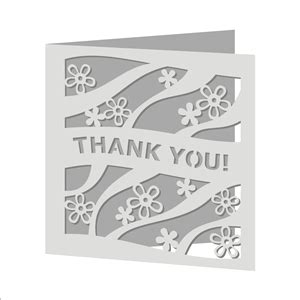 Credit Card Template For Cricut by Silhouette Design Store View Design 28529 Thank You Card