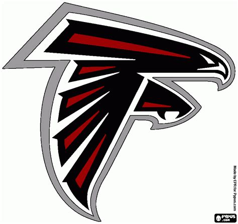 atlanta falcons colors falcons logo pictures to color images