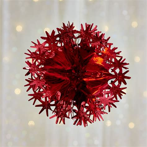 wilko christmas decoration foil ball red at wilko com