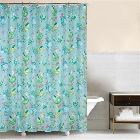 beach house shower curtains laguna breeze ocean shell beach house shower curtain 72 quot x 72 quot