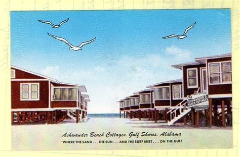 gulf shores alabama ashwander beach cottages circa 1950s