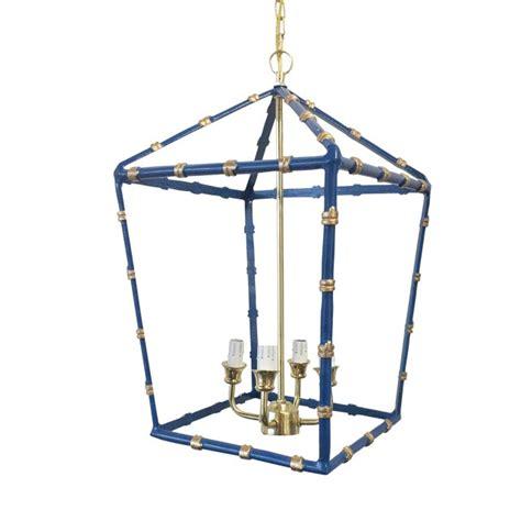 largedana gibson navy bamboo lantern chairish