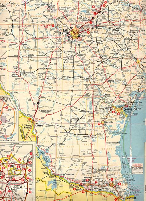 south texas maps roads texasfreeway gt statewide gt historic information gt road maps