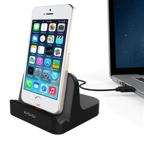 charge iphone 5 with iphone 4 charger kidigi 2 4a charge sync dock apple iphone se 5s black