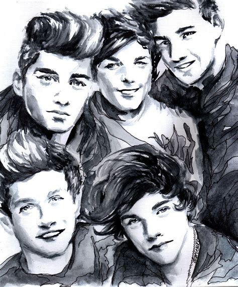 one direction painting one direction by dariemkova on deviantart