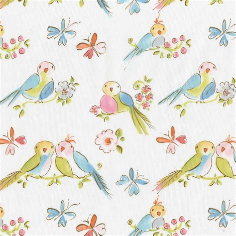 bedding fabric love birds fabric by the yard pink fabric carousel designs