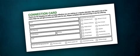 connection cards free template free stuff connection card church resources
