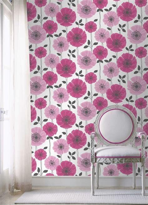 fine decor wallpaper designer wallpaper home flair decor poppie pink heavyweight wallpaper fine decor