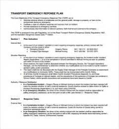 Emergency Plan Template For Businesses by Sle Emergency Response Plan Template 9 Free