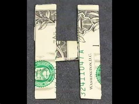 Dollar Bill Origami Letters - 17 best images about origami dollar bill on