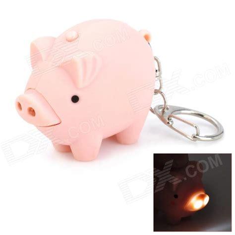 Cute Pig Style 2 Led White Light Flashlight Keychain W Pig Lights