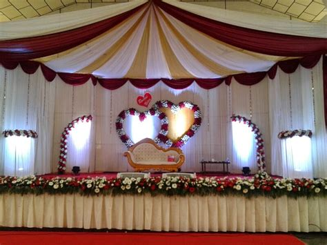 Stage Decorations by Wedding Reception Stage Decoration