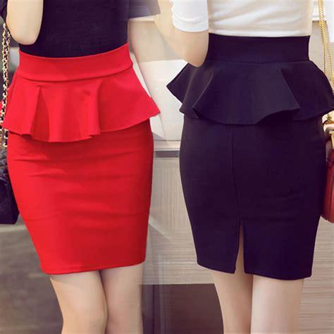 Rok Item Peplum 1 aliexpress buy 5xl big size peplum skirt office