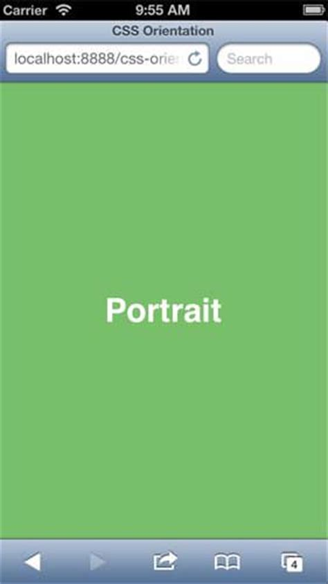 iphone css layout with landscape portrait modes ui design applying css based on screen orientation hongkiat