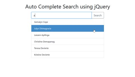 complete jquery tutorial pdf how to create an auto complete search using jquery with