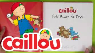 caillou books caillou puts toys book reading kids cartoon kids