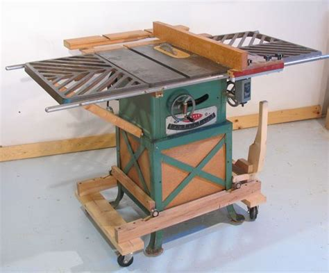 diy table saw stand with wheels mobile table saw base