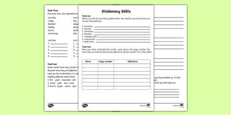 Dictionary Skills Worksheets dictionary skills worksheets dictionary work dictionary